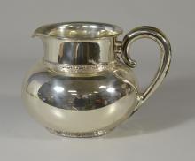 Bigelow Kinnard sterling silver pitcher, 8-1/8