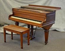 Schroeder Mahogany Baby Grand Piano, 62
