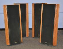 (4) Infinity Kappa 8 floor speakers, 3 need refoaming, 47-1/2