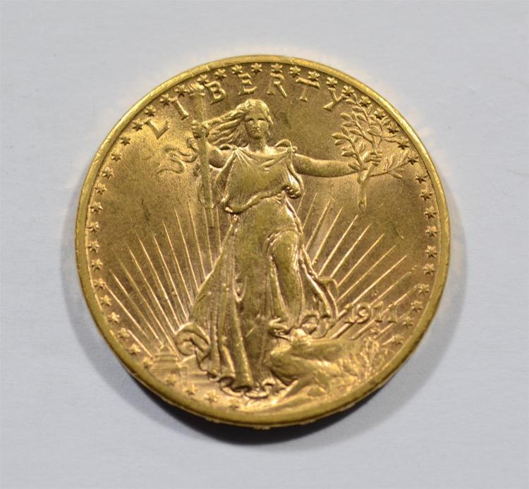 1911d 20 st gaudens gold coin au. Black Bedroom Furniture Sets. Home Design Ideas
