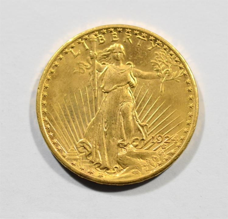 1924 20 st gaudens gold coin au. Black Bedroom Furniture Sets. Home Design Ideas