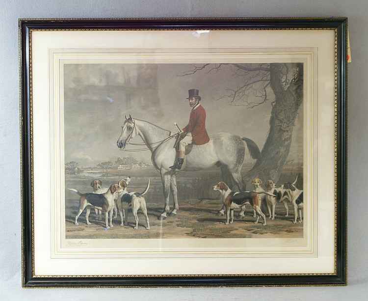 James Scott and Stephen Pearce, London, 1875, colored mezzotint,  Master of the Hounds, image 18 1/4
