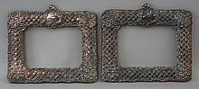 Pair of Sterling Silver Picture Frames, marked, no easel backs, overall 7-1/4