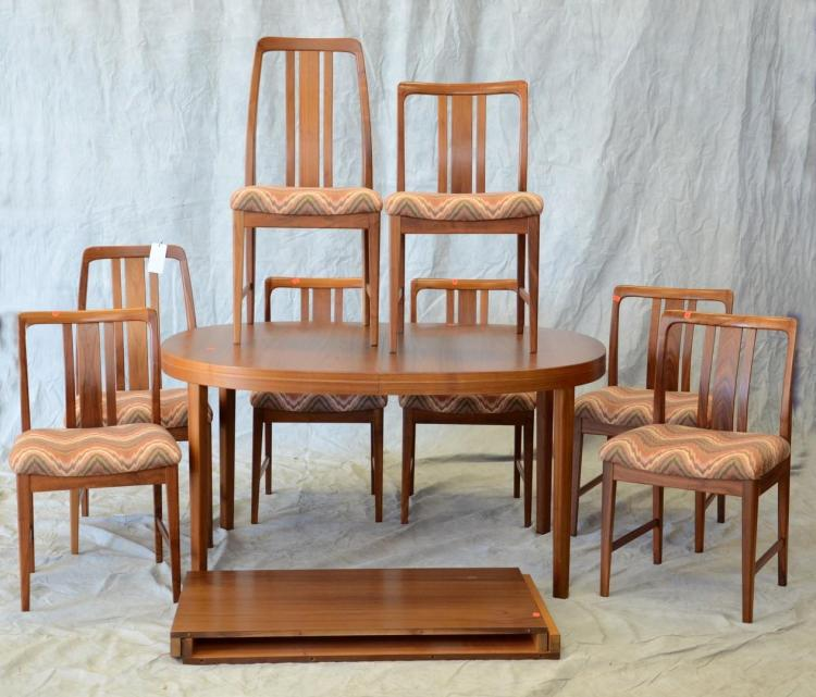 pc danish modern dining room set to include an oval dining room