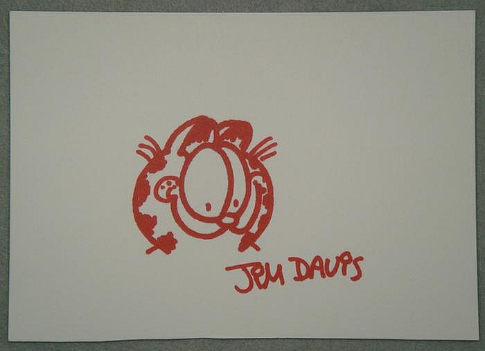 Jim Davis b 1945 colored marker on card stock