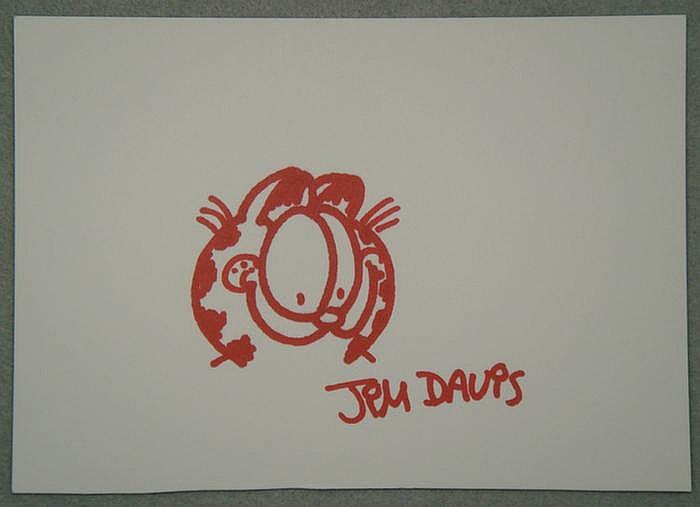 Jim Davis b 1945 colored marker on card stock
