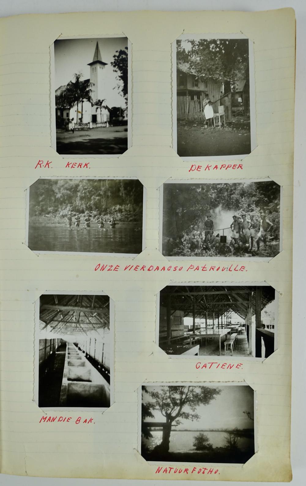 POLITIONELE ACTIES -- PHOTO ALBUM of 'Sold[aa]t van Dalen, L. (Leo