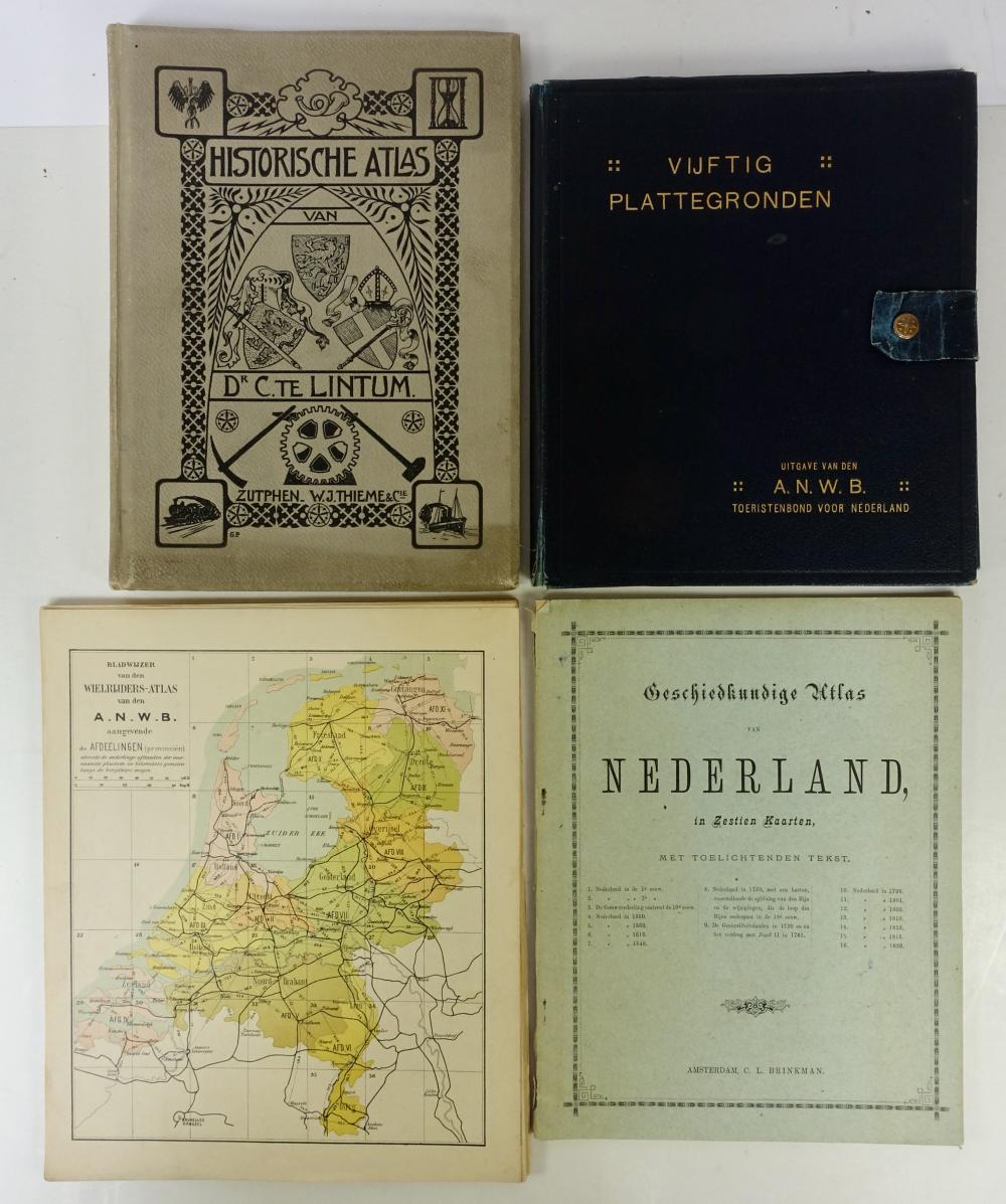 BRINKMAN, C.L. Geschiedkundige atlas van Nederland. N.d. (1890). W. 16 maps, some