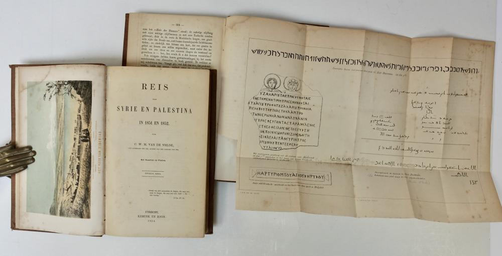 VELDE, C.W.M. v.d. Reis door Syrie en Palestina in 1851 en 1852
