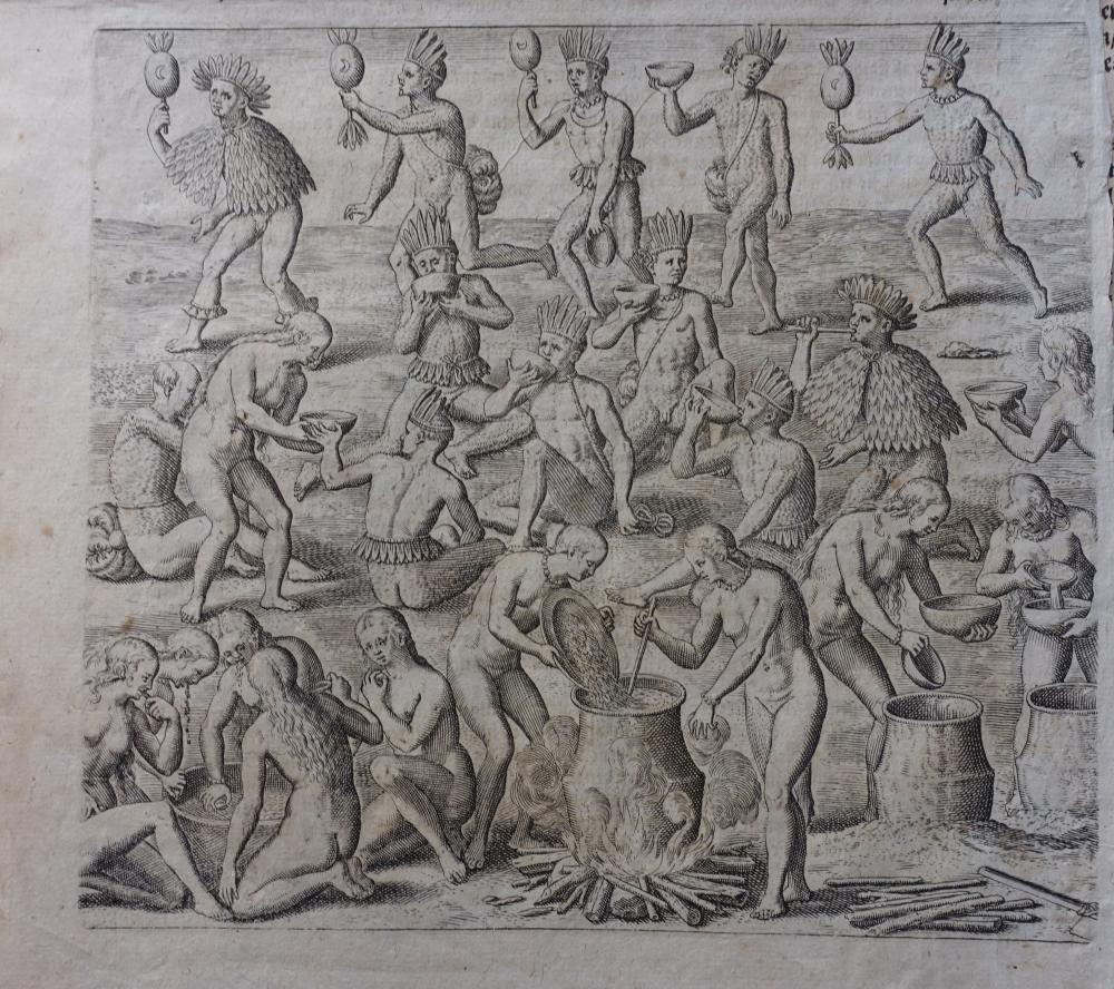 AMERICA -- BRY, Th. de. Collection of 13 text-engravings taken from (at