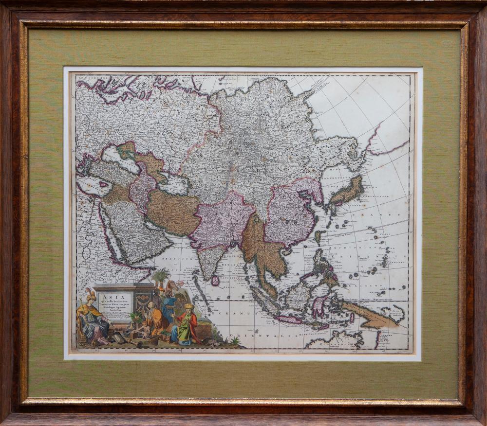 """ASIA -- """"ASIA"""". (Amst.), G. & L. Valk, n.d. (c. 1720). Engr. map dep"""
