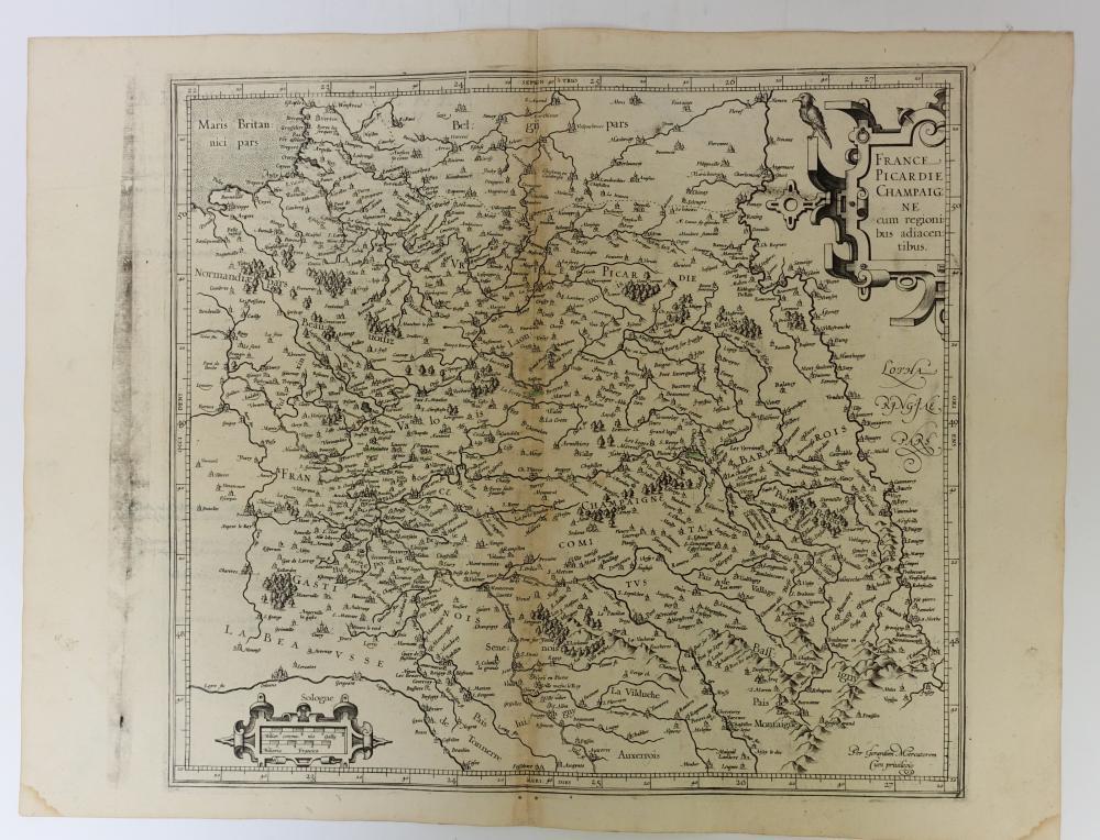 """FRANCE -- """"GALLIA"""". -- """"BRITANNIA & Normandia cum confinib(us) regionibus"""". -- """"AQUITANIA australis Regnu(m"""