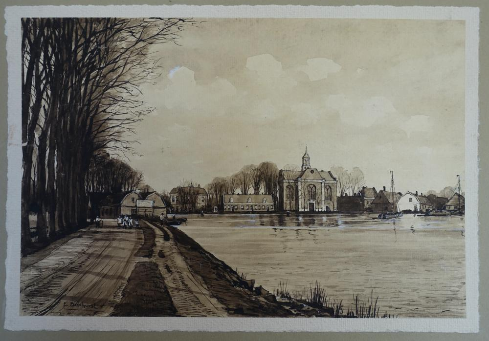 BOKHORST, Engelbartus (1871-1939). Collection of 3 ink and black and white wash