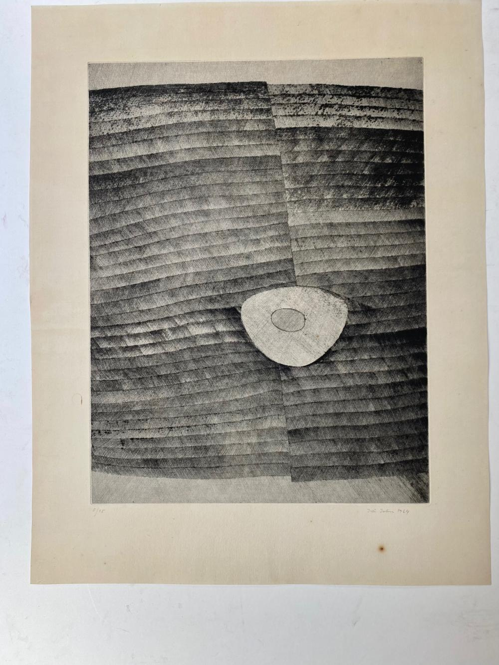 JIRÍ, John (1923-72). Untitled. 1964. Etching. 49 x 37 cm. Signed, dated