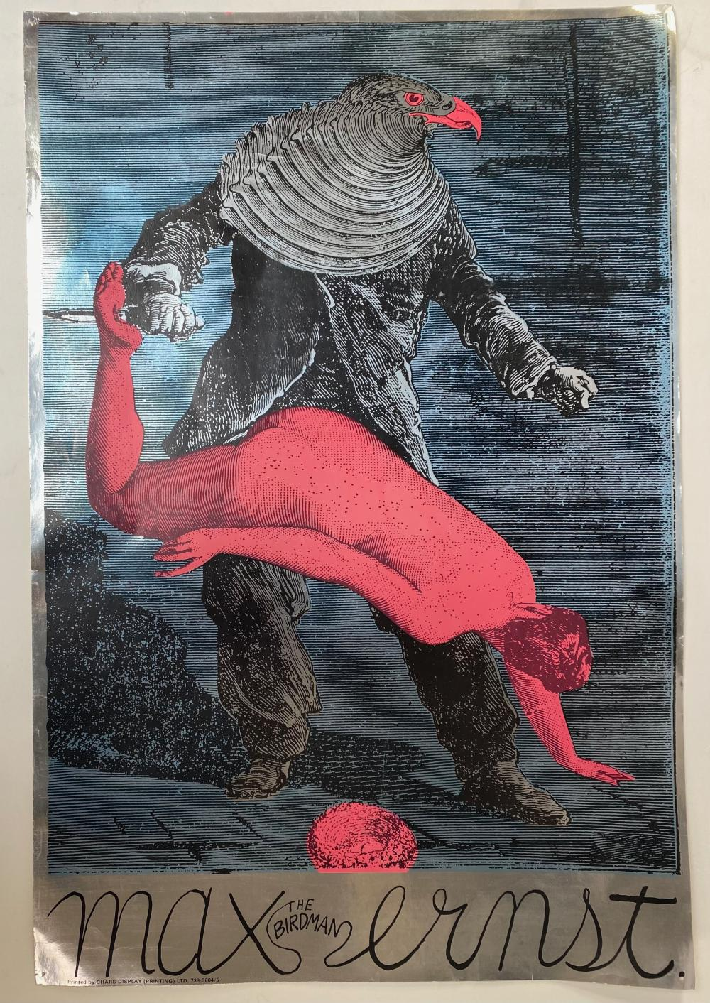 SHARP, Martin (1942-2013). Max Ernst. The Birdman. (c. 1967). Cold. lithograph and