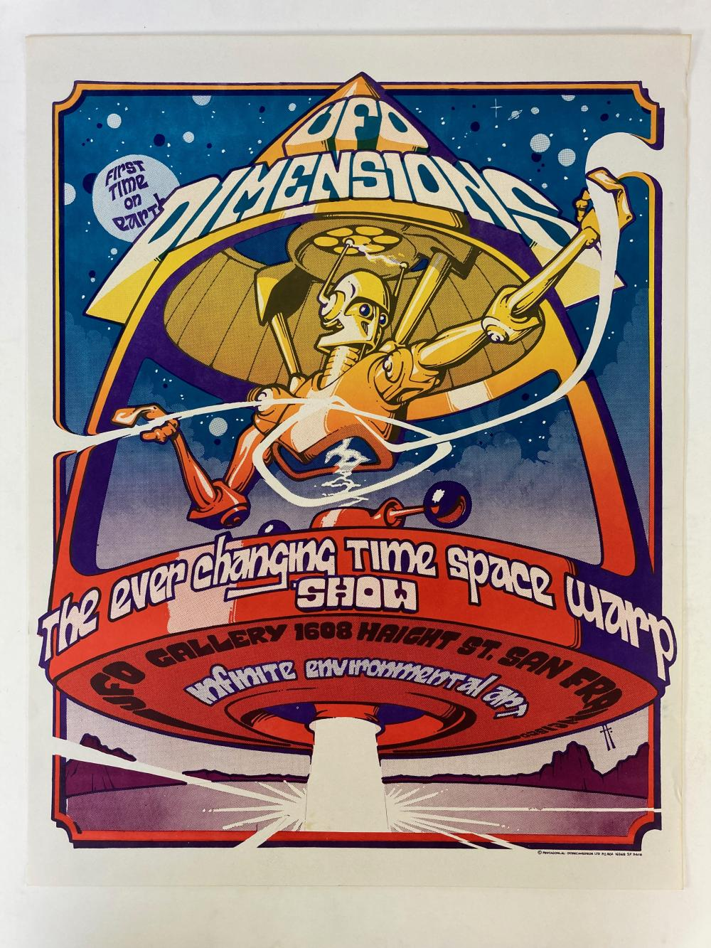 UFO DIMENSIONS. The ever changing time space warp show. UFO Gallery (…) San