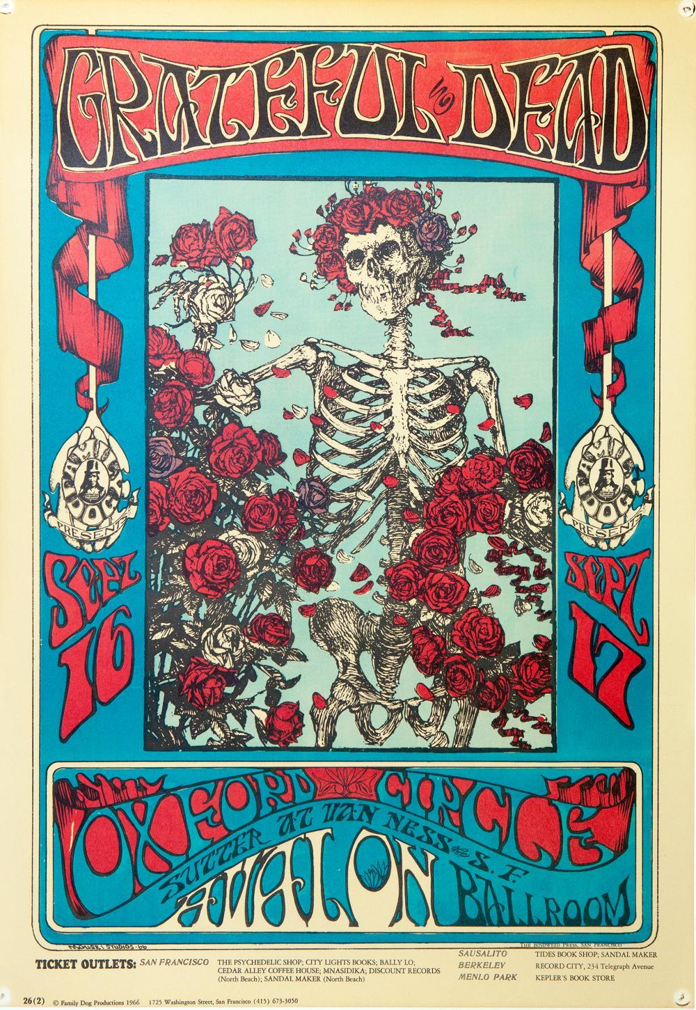 """GRATEFUL DEAD. Oxford Circle, Avalon Ballroom, San Francisco. Sept. 16-17"""". San Francisco"""