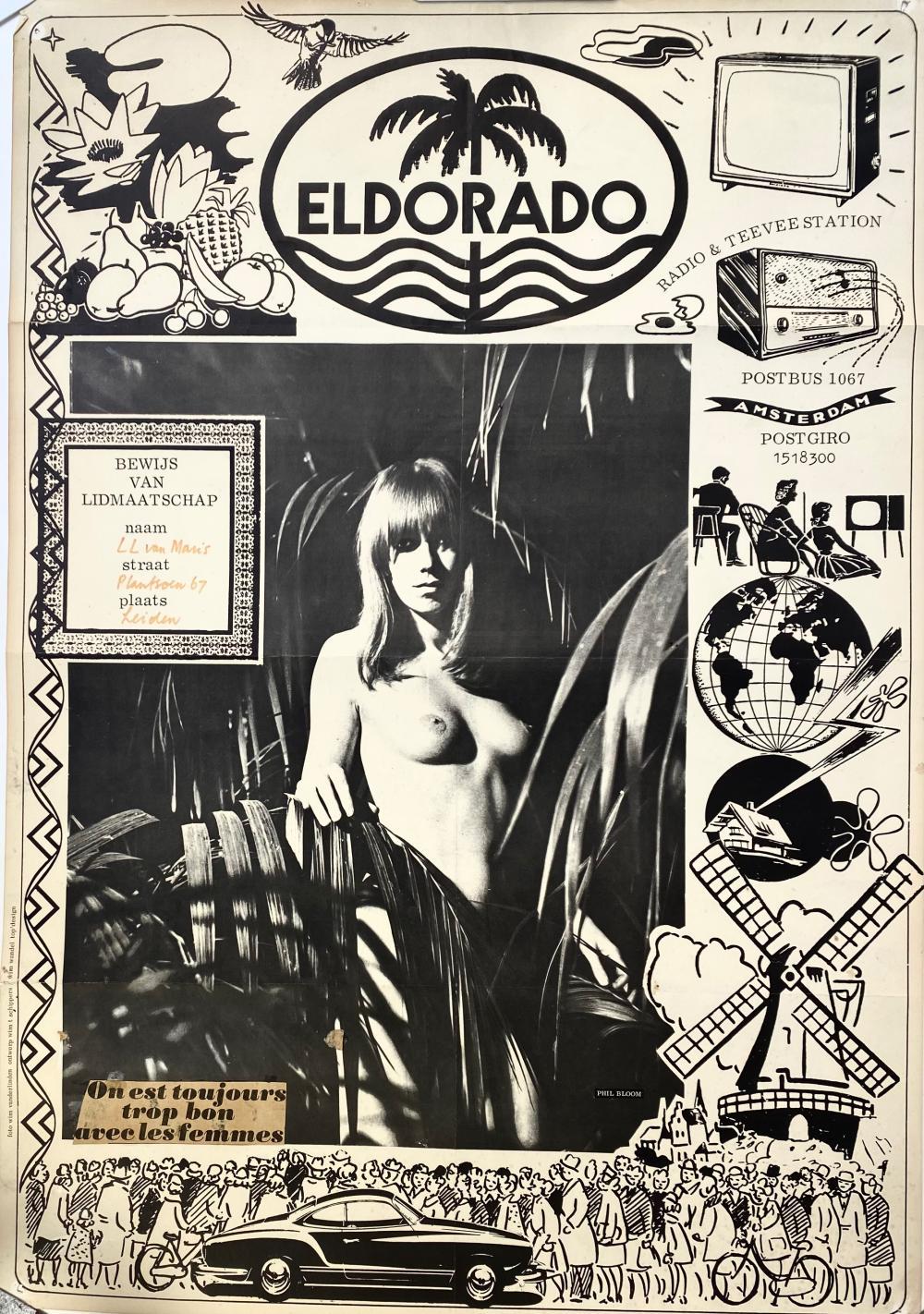 SCHIPPERS, Wim T. (1942-). Eldorado Radio & Teevee Station (Phil Bloom). (Bewijs van