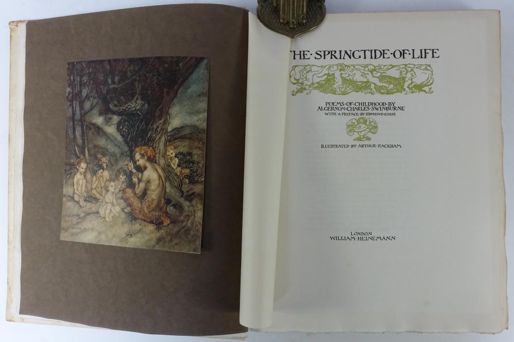 RACKHAM -- SWINBURNE, A.C. The Springtide of Life. Poems of Childhood. W. a