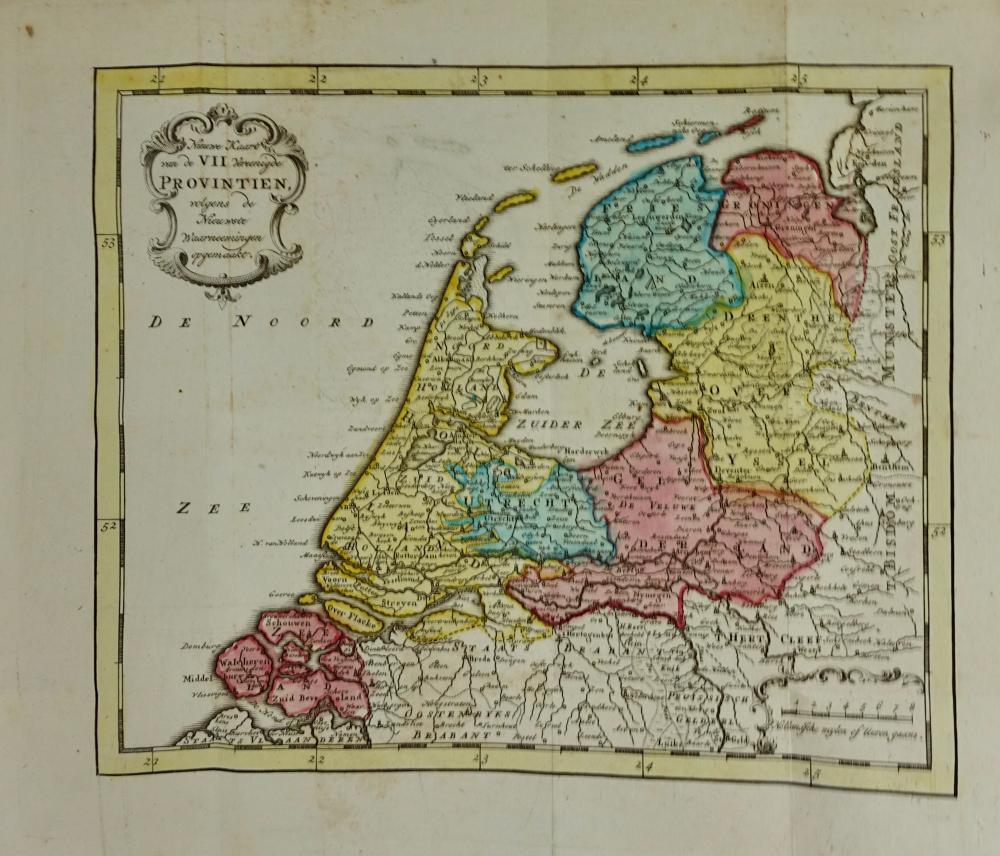 MARTINET, J.F. Het Vereenigd Nederland. Amst., J. Allart, 1788. (10), 605, (15