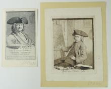 """NOORDE, Cornelis van (1731-1795). (""""Zelfportret""""). 1765. Fine etched portrait of Van Noorde"""