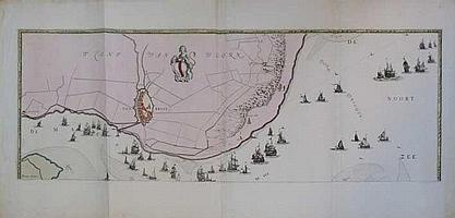 MAAS -- GEEL, Joost v. (1631-1698). Chart of the