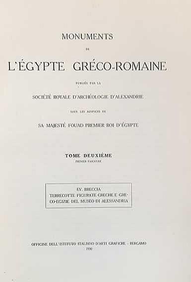 BRECCIA, Ev. Terrecotte figurate greche e creco-egizie del Museo di Alessan
