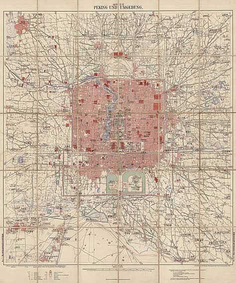 CHINA -- PEKING UND UMGEBUNG. Berlin, Verlagsbuchhandlung R. Eisenschmidt,