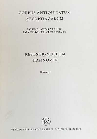 CORPUS ANTIQUITATUM AEGYPTIACARUM. Lose-Blatt-Katalog ägyptischer Altertüme