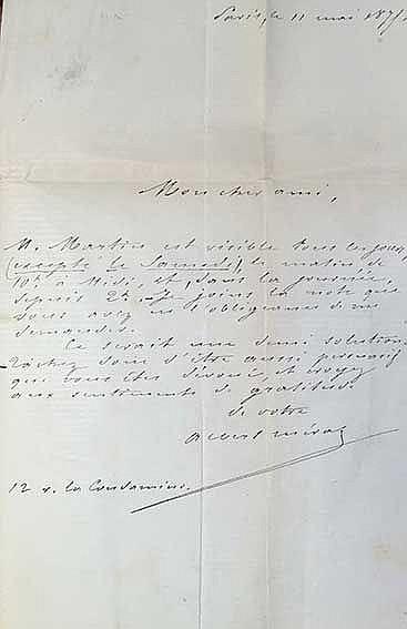 MÉRAT, A. L'idole. Par., A. Lemerre, 1869. (4), 41, (3) pp. Cont. hcf. w. r