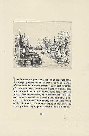DUHAMEL, G. Hollande. (Paris), Les Cent Bibliophiles, 1949. 172, (10) pp. W