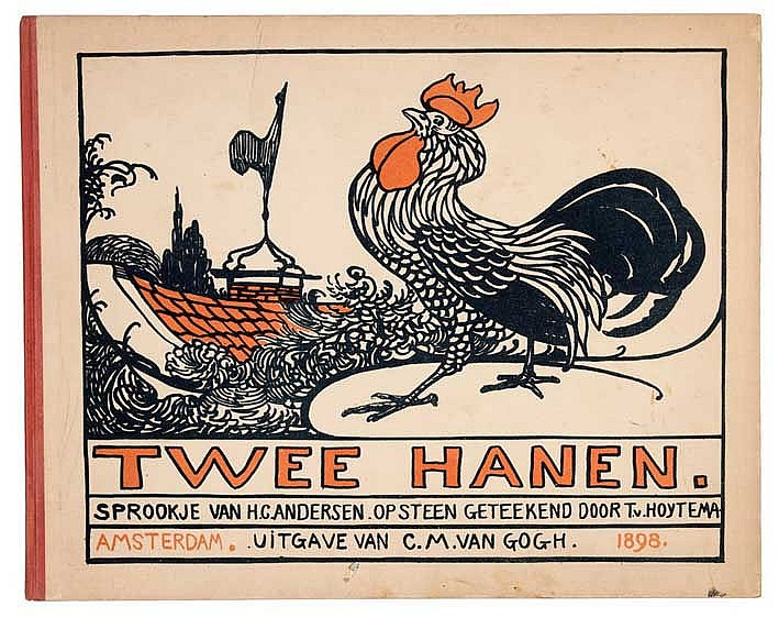 HOYTEMA -- ANDERSEN, H.C. Twee hanen. Amst., C.M. v. Gogh, 1898. (2) pp.