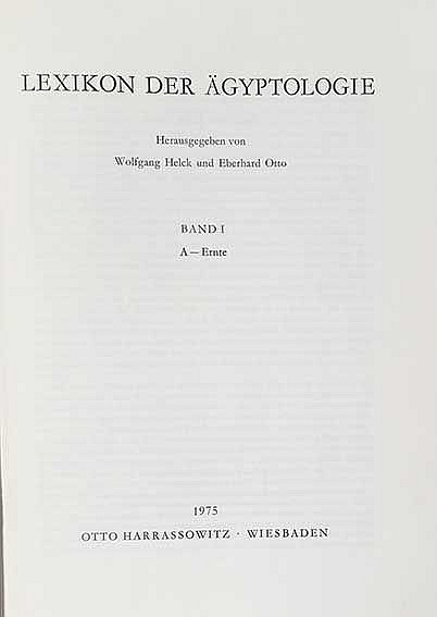 DICTIONARIES -- HELCK, W., E. OTTO & W. WESTENDORP, Hrsg. Lexikon der Ägypt
