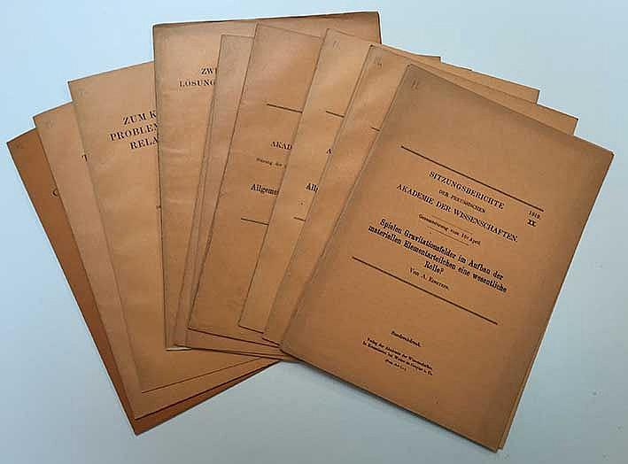 EINSTEIN -- COLLECTION of 12 'Sonderabdrucken' from the 'Sitzungsberichte d