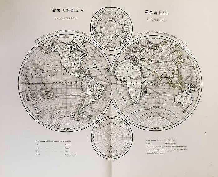 FRIJLINK, H. Nieuwe hand-atlas der aarde, in haren tegenwoordigen toestand.