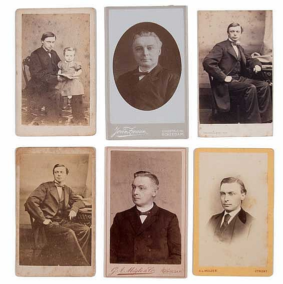 COLLECTION OF 6 PORTRAIT PHOTOS OF FRANÇOIS HAVERSCHMIDT (1835-1894). Mount