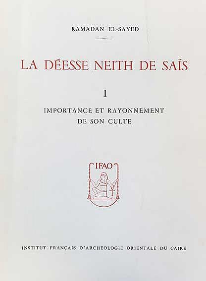 EL-SAYED, R. La déesse Neith de Saïs. Cairo, (1982). 2 vols. vii, 203, (3);