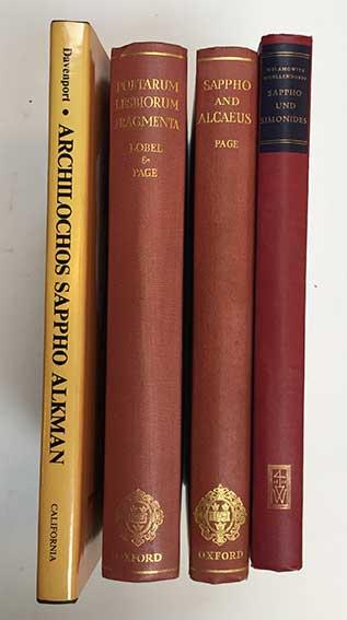 POETARUM LESBIORUM FRAGMENTA. Ed. E. Lobel & D. Page. 1955. -- D. PAGE. Sap