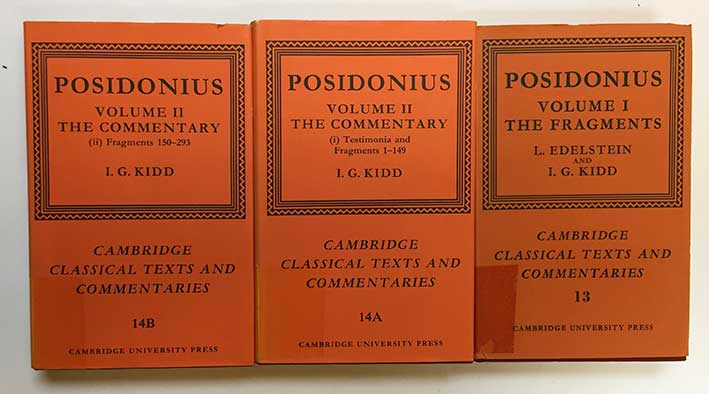 POSIDONIUS. The fragments. (&) The commentary. Ed. by L. Edelstein & I.G. K