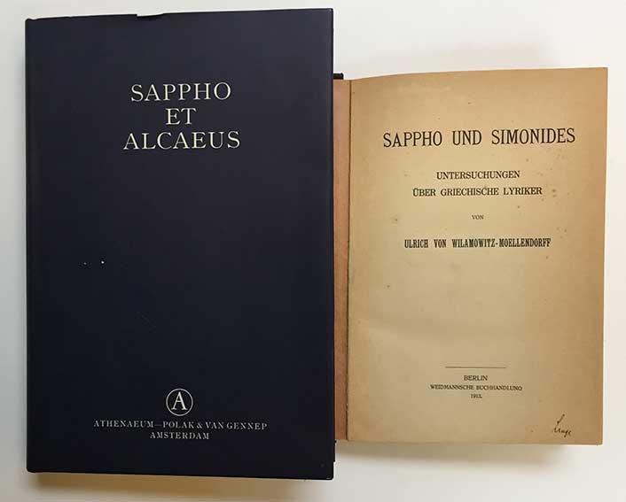 SAPPHO & ALCAEUS. Fragmenta. Ed. E.-M. Voigt. Amst., 1971. Lge-8°. Ocl. w.