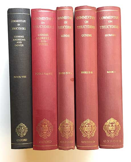 THUCYDIDES -- GOMME, A.W., A. ANDREWS & K.J. DOVER. A historical commentary