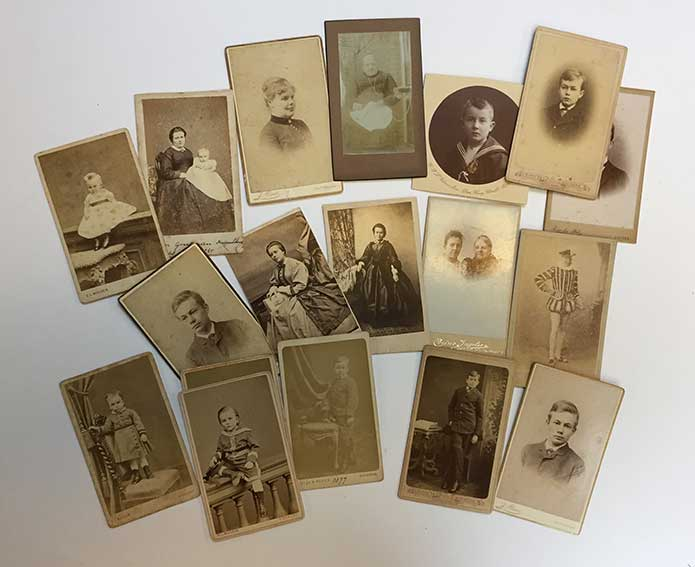 COLLECTION OF 19 PORTRAIT PHOTOS OF MEMBERS OF THE HAVERSCHMIDT FAMILY. Mou