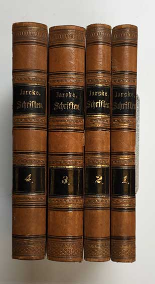 JARCKE, C.E. Vermischte Schriften. München, 1839-54. 4 vols. W. lithogr. fr