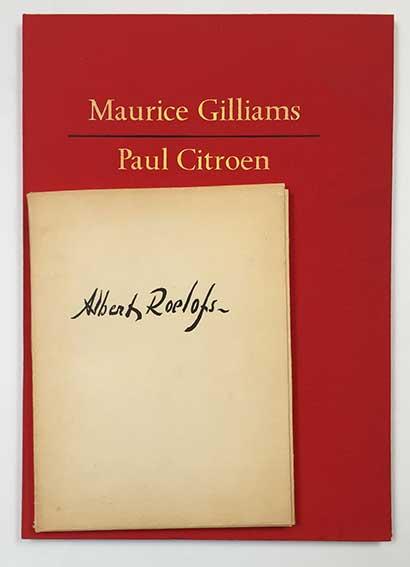 GILLIAMS, M. Een profiel in paradoxen. N.pl., (Taal & Teken), 1980. (21) lv
