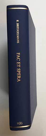 MAIRE -- BREUGELMANS, R. Fac et spera. Joannes Maire. Publisher, printer