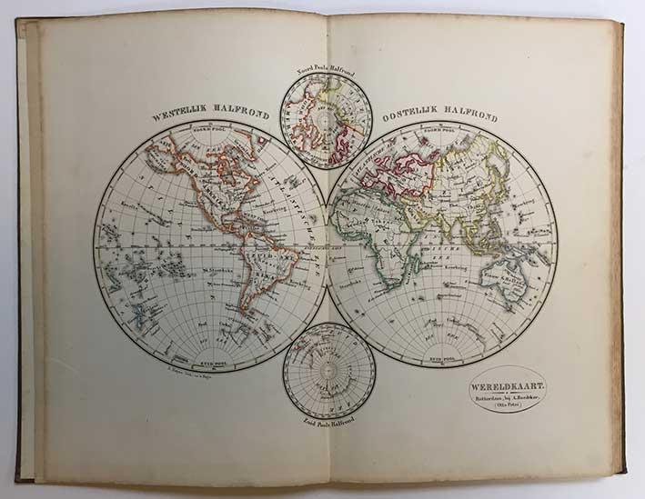 PETRI, O. School-atlas v. alle deelen der aarde. 5e dr. Rott., O. Petri, n.