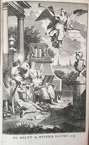 DELFT -- (BOITET, R.). Beschryving der stadt Delft, behelzende een zeer naa