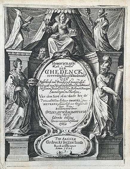 BAUDARTIUS, W. Memorien ofte kort verhael der ghedenckweerdighste geschiede