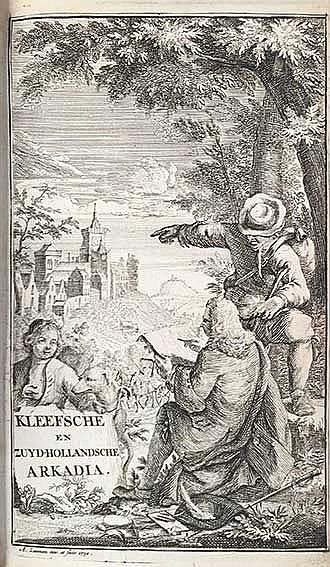 BRUIN, C. Kleefsche en Zuid-Hollandsche arkadia, of dag-verhaal van twee re