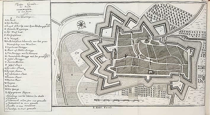 OUDEWATER -- (KINSCHOT, G.R. v.). Beschryving der stad Oudewater. Delft, R.